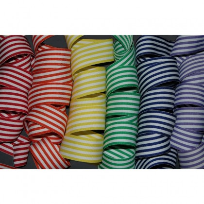 "1.5"" Taffy Stripe Grosgrain Ribbon"