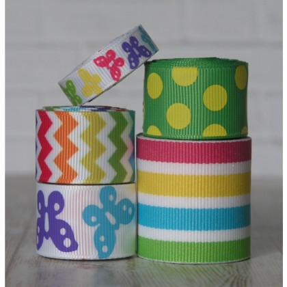 10 yards Bright Butterfly Ribbon Mix