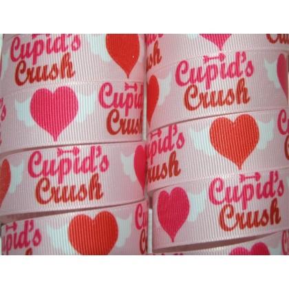 "7/8"" Cupid's Crush Print Grosgrain Ribbon"