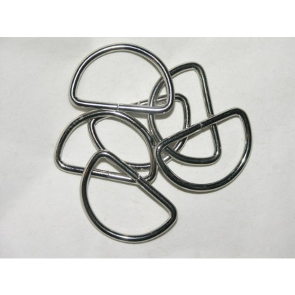 "1"" Nickel-Plated Silver D-Rings"