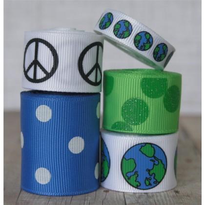 10 yards Earth Day Globe Mix