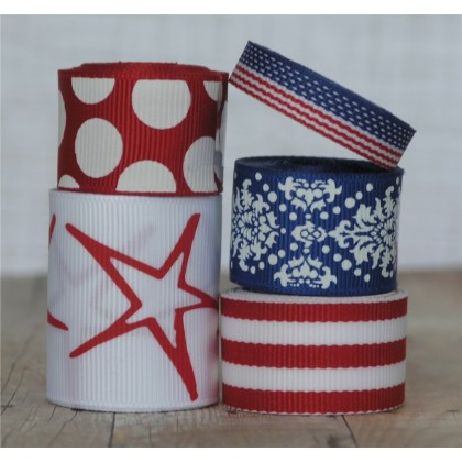 10 yards Freedom Ribbon Mix