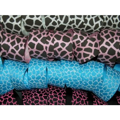 "1.5"" Giraffe Print Grosgrain Ribbon"