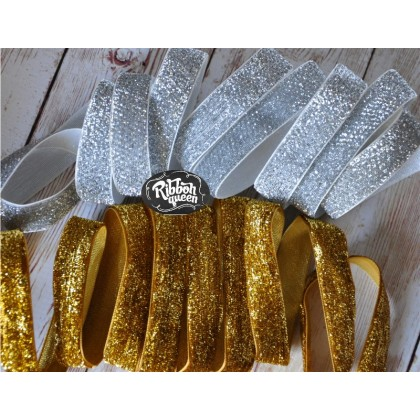 "One Yard 3/4"" (6/8"") Metallic Lurex Velvet Ribbon"