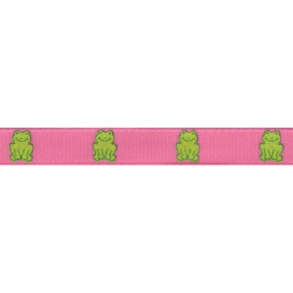 "5 yards 3/8"" Frog Print Grosgrain Ribbon"