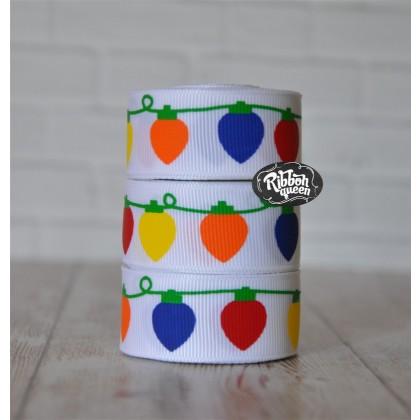 "5 yards 7/8"" Bright Lights Print Grosgrain Ribbon"