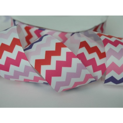 "5 yards 1.5"" Love Chevron Print Grosgrain Ribbon"