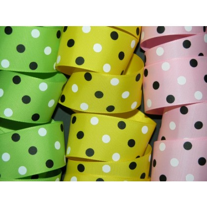 "1.5"" Minnie Dots Print Grosgrain Ribbon"