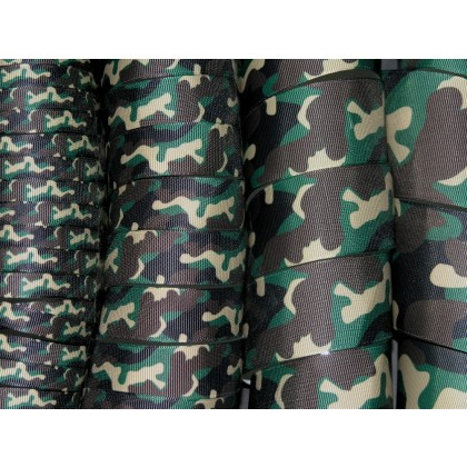 5 yards New Camouflage Camo Print Grosgrain Ribbon