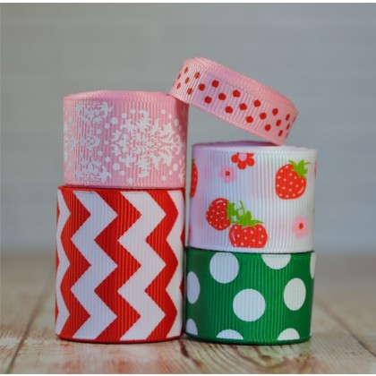 10 yards Berries & Flowers Ribbon Mix