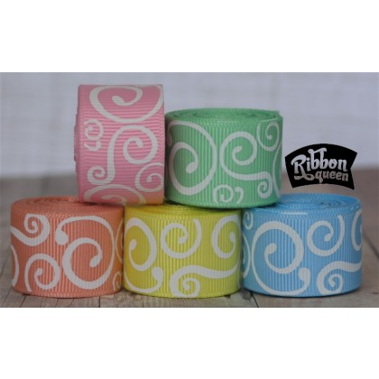 10 yards Pastel Scrolls Filler Mix