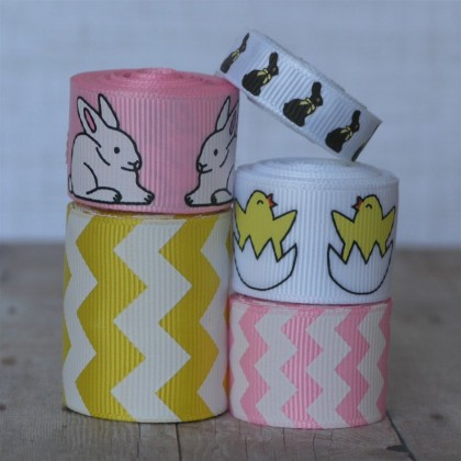 10 yards Pink & Yellow Easter Friends Mix