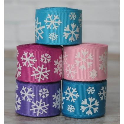10 yards Girly Snowflake Ribbon Mix