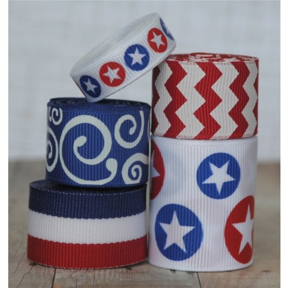 10 yards Star Dots Ribbon Mix