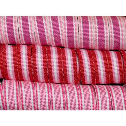 "5 yards 3/8"" Valentine's Stripes Grosgrain Ribbon"