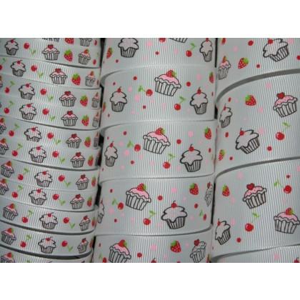 Sweet Cupcakes Print Grosgrain Ribbon
