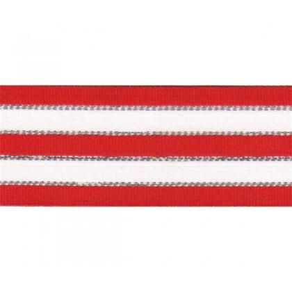 "5 yards 1.5"" Christmas Stripes Grosgrain Ribbon"