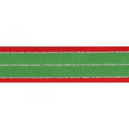 "5 yards 7/8"" Christmas Stripes Grosgrain Ribbon"