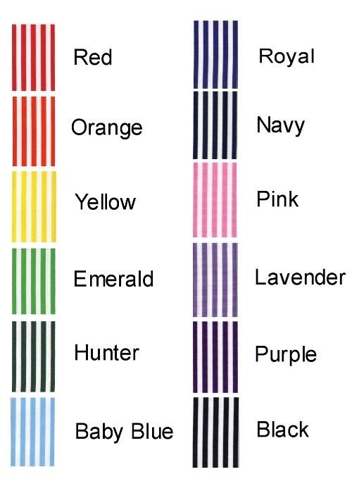 15 Taffy Stripe Grosgrain Ribbon