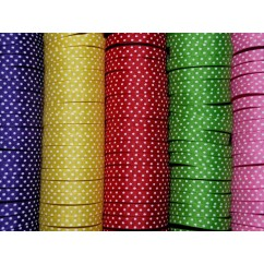 "5 yards 3/8"" Offray Tiny Swiss Dot Grosgrain Ribbon"