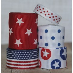 10 yards 4th of July Ribbon Mix