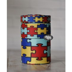 5 yards Puzzle Piece Autism Awareness Ribbon Print Grosgrain Ribbon