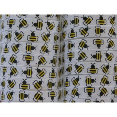 "3/8"" Bee Print Grosgrain Ribbon"