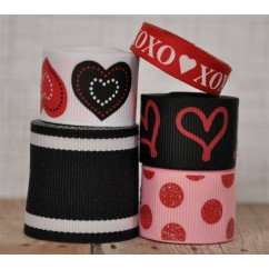 10 yards Black & Red Valentine's Day Mix