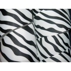 "5 yards 2.25"" & 3"" Bold Zebra Print Grosgrain Ribbon"