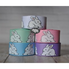 "5 yards 7/8"" Easter Bunnies Grosgrain Ribbon"
