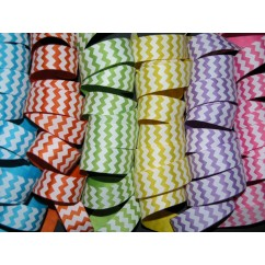 "50 yards 7/8"" Chevron Stripe Grosgrain Ribbon"