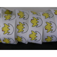 "7/8"" Chickie Chicks Print Grosgrain Ribbon"