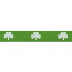 "5 yards 5/8"" Emerald Shamrock Print Grosgrain Ribbon"
