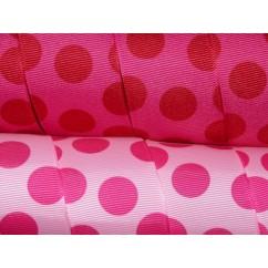 "5 yards 1.5"" Funky Dots Print Grosgrain Ribbon"