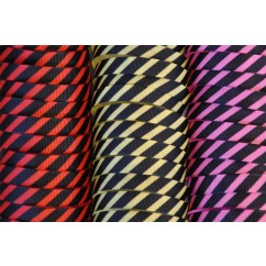 "5 yards 3/8"" Funky Stripes Print Grosgrain Ribbon"
