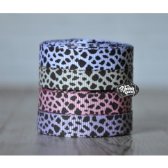 "3 yards 3/8"" Giraffe Print Grosgrain Ribbon"