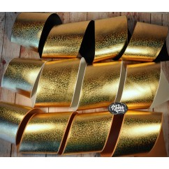 "ONE yard 3"" Gold Hologram Foil Print Grosgrain Ribbon Holographic"