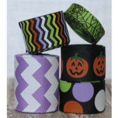 10 yards Happy Jack-O-Lantern Ribbon Mix