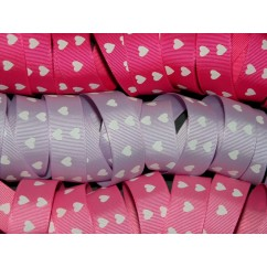 "5 yards 7/8"" Heart Print Grosgrain Ribbon"