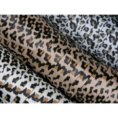 "5 yards 3/8"" Leopard Print Grosgrain Ribbon"