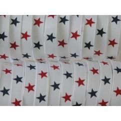 "5 yards 3/8"" Liberty Star Print Grosgrain Ribbon"