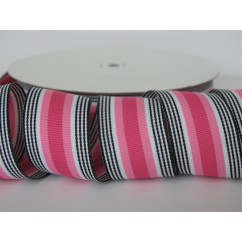 "5 yards 1.5"" Pink Licorice Stripe Grosgrain Ribbon"