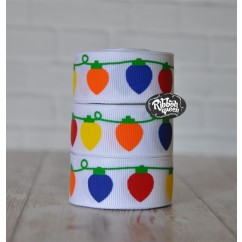 "5 yards 7/8"" Bright Lights Print Grosgrain Ribbon"