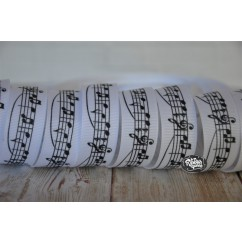"5 yards 7/8"" Music Notes & Bar Print Grosgrain Ribbon"