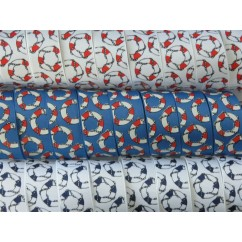 "5 yards 1"" Nautical Rings Print Grosgrain Ribbon"