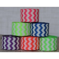 "5 yards 7/8"" Neon Chevron Stripe Grosgrain Ribbon"