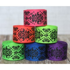 12 yards Neon & Black Glitter Dottie Damask Filler Mix