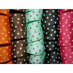 "5 yards 1.5"" Offray Colored Polka Dot Grosgrain Ribbon"