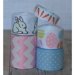10 yards Pastel Bunny Easter Ribbon Mix
