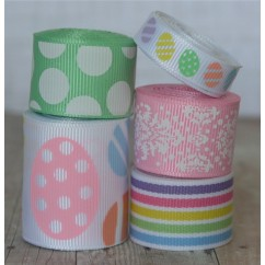 10 yards Pastel Eggs Easter Ribbon Mix